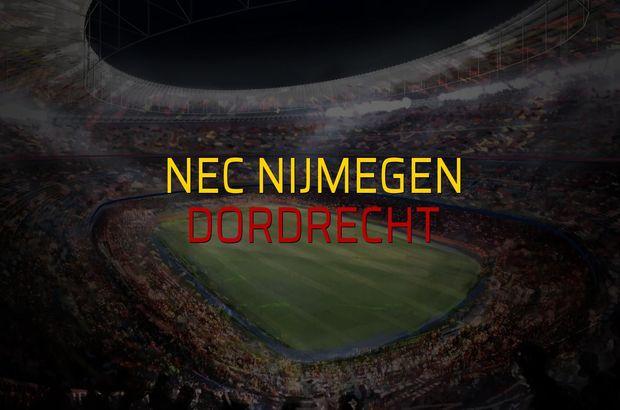 Nec Nijmegen - Dordrecht maçı rakamları