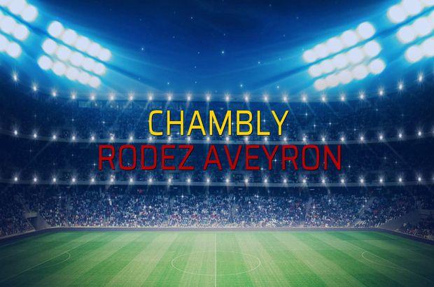 Chambly - Rodez Aveyron maçı rakamları