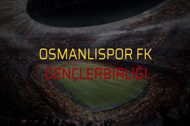 OsmanlıSpor FK - Gençlerbirliği rakamlar