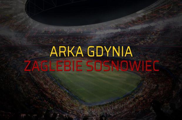 Arka Gdynia - Zaglebie Sosnowiec maçı rakamları