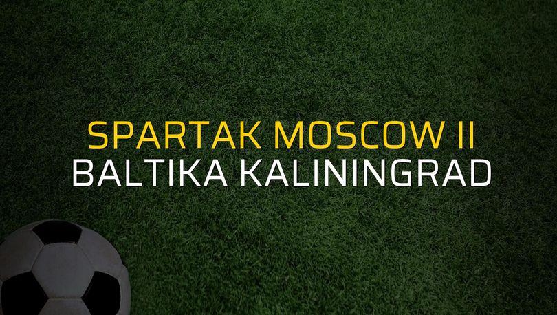 Spartak Moscow II - Baltika Kaliningrad sahaya çıkıyor