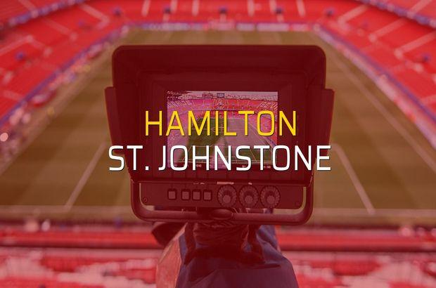 Hamilton - St. Johnstone sahaya çıkıyor