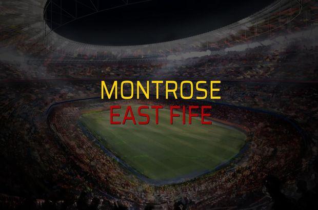 Montrose - East Fife sahaya çıkıyor