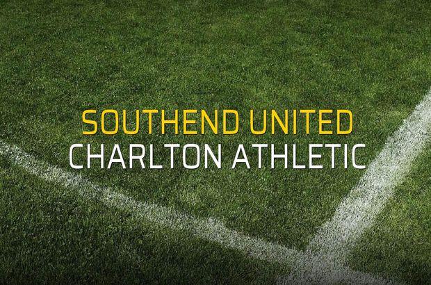Southend United - Charlton Athletic maçı öncesi rakamlar