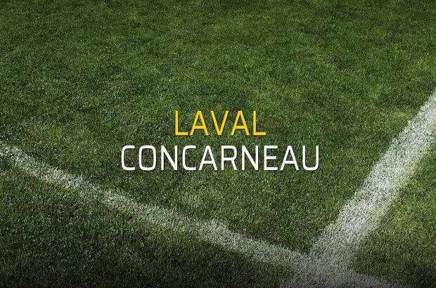 Laval - Concarneau maçı rakamları