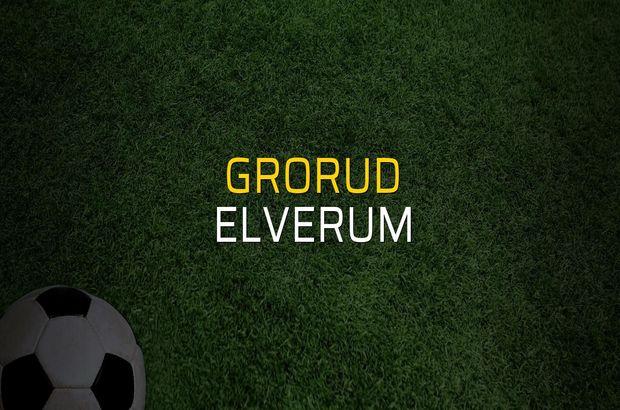 Grorud - Elverum rakamlar
