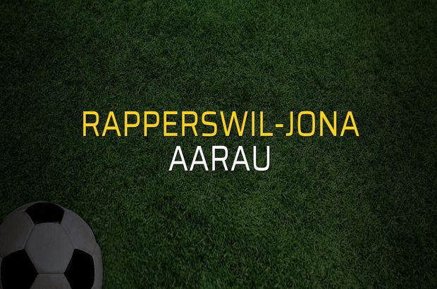 Rapperswil-Jona - Aarau maçı rakamları