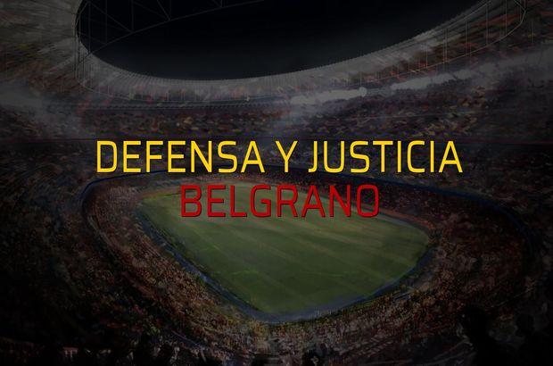 Defensa y Justicia - Belgrano karşılaşma önü