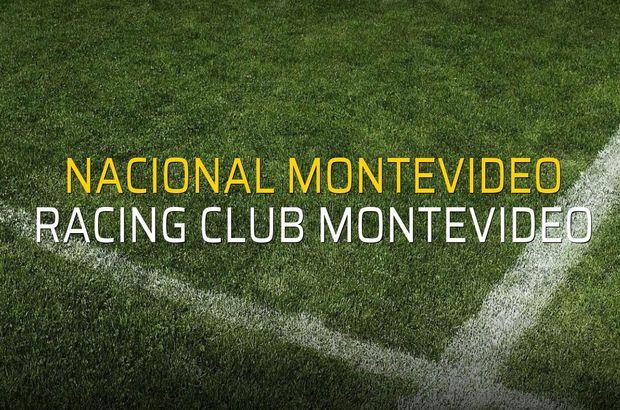 Nacional Montevideo - Racing Club Montevideo sahaya çıkıyor