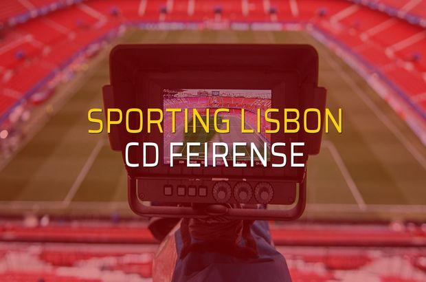 Sporting Lisbon - CD Feirense karşılaşma önü