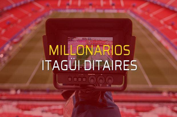 Millonarios - Itagüi Ditaires sahaya çıkıyor