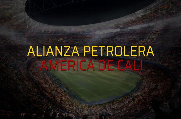 Alianza Petrolera - America de Cali maçı heyecanı