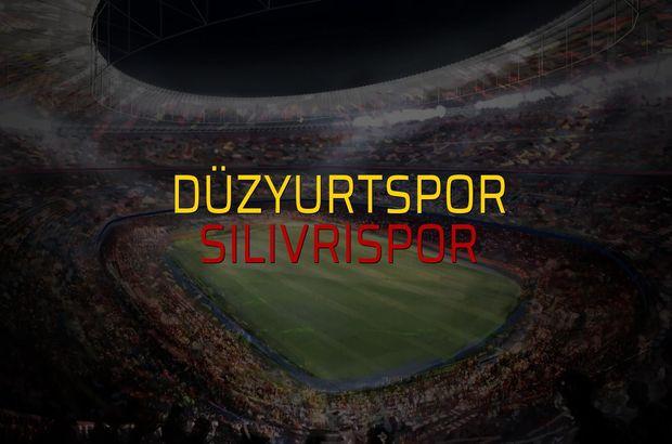 Düzyurtspor - Silivrispor maçı öncesi rakamlar