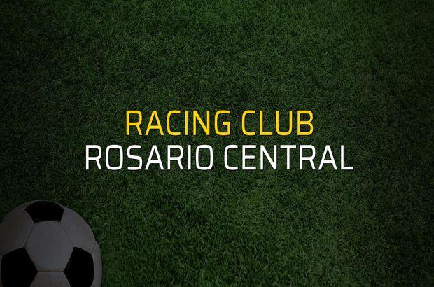 Racing Club - Rosario Central maçı rakamları