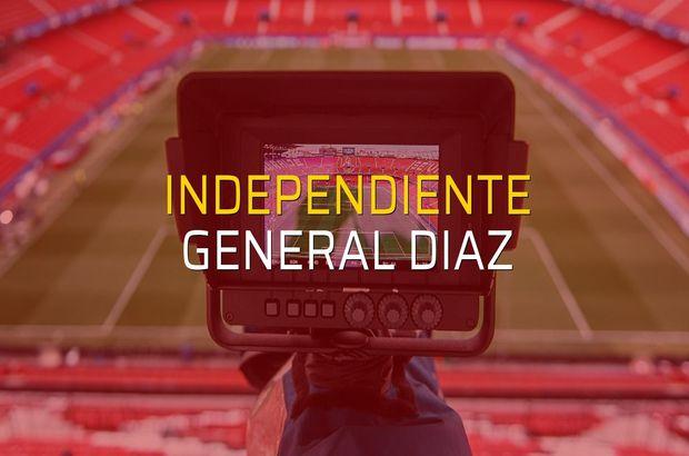 Independiente - General Diaz karşılaşma önü