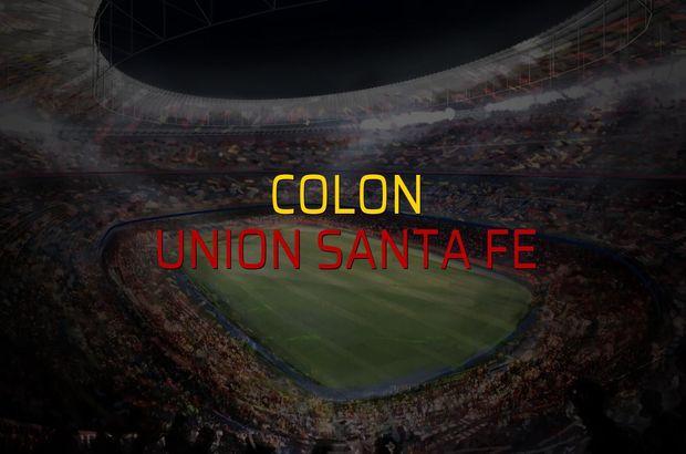 Colon - Union Santa Fe karşılaşma önü