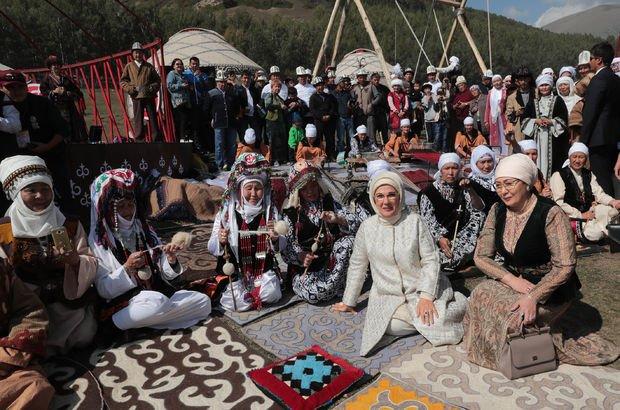 Emine Erdoğan'dan Kırgızistan'da yayla ziyareti