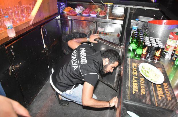 Kemer'de gece kulüplerine narkotik denetimi