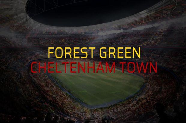 Forest Green - Cheltenham Town maç önü