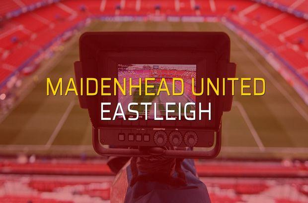 Maidenhead United - Eastleigh maçı heyecanı