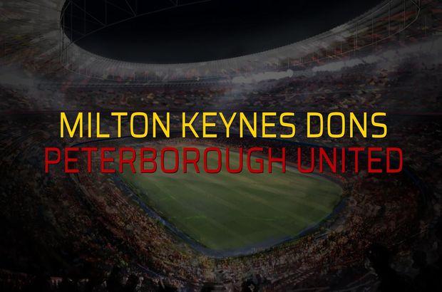 Milton Keynes Dons - Peterborough United maçı heyecanı