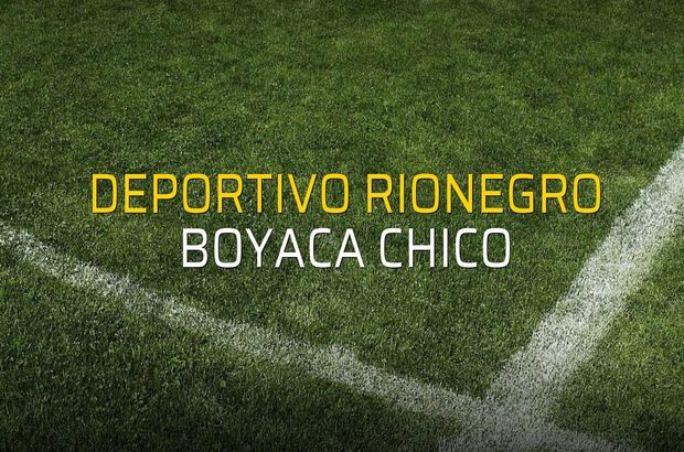 Deportivo Rionegro - Boyaca Chico maçı öncesi rakamlar