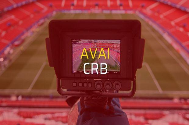 Avai - CRB maçı öncesi rakamlar