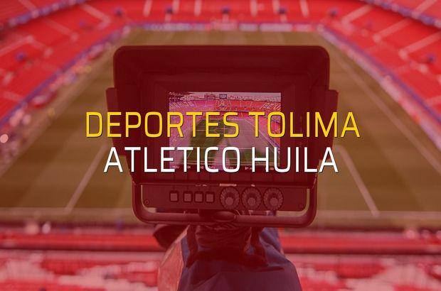 Deportes Tolima - Atletico Huila maçı istatistikleri