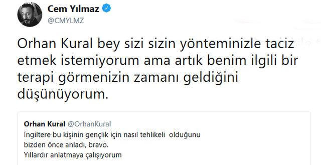 Cem Yılmaz'dan Orhan Kural'a: Sizi sizin yönteminizle taciz etmek istemiyorum - Magazin haberleri