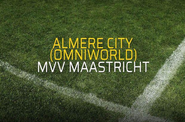 Almere City (Omniworld) - MVV Maastricht sahaya çıkıyor