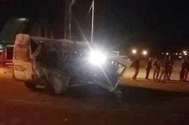 Ağrı'da zırhlı polis aracı ile minibüs çarpıştı: Yaralılar var