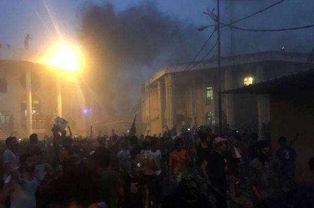 Basra'da sular ısındı! İran Başkonsolosluğu ateşe verildi
