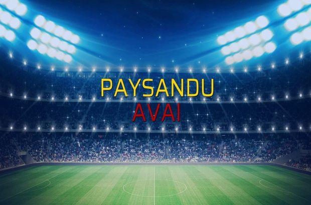Paysandu - Avai maçı öncesi rakamlar