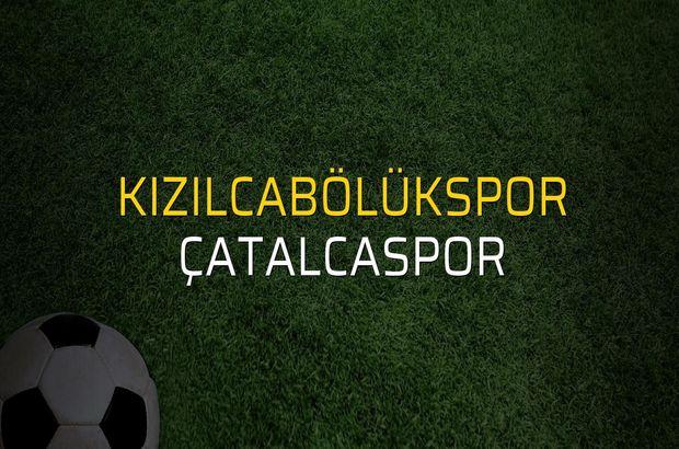 Kızılcabölükspor - Çatalcaspor maçı öncesi rakamlar