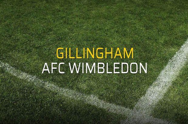 Gillingham - AFC Wimbledon maçı rakamları