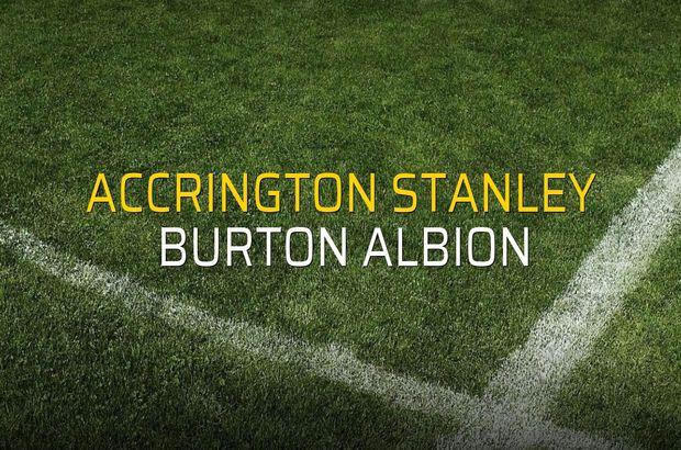 Accrington Stanley - Burton Albion maç önü