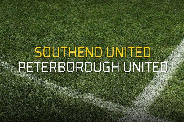 Southend United - Peterborough United maçı istatistikleri
