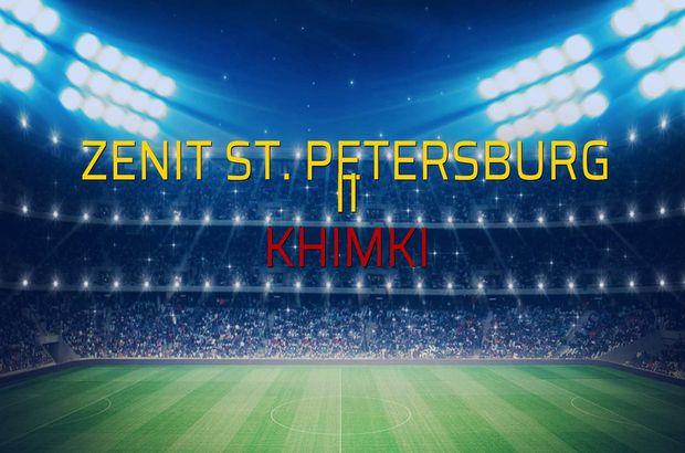 Zenit St. Petersburg II - Khimki maçı öncesi rakamlar