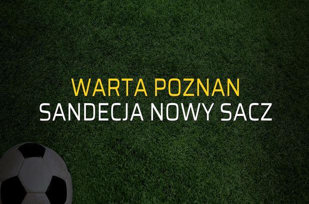 Warta Poznan - Sandecja Nowy Sacz maçı heyecanı