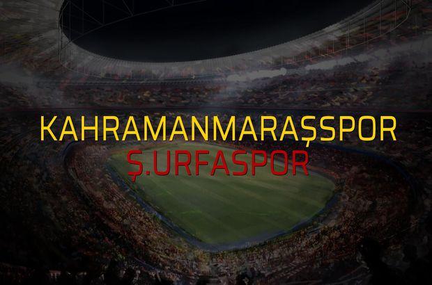 Kahramanmaraşspor - Ş.Urfaspor düellosu