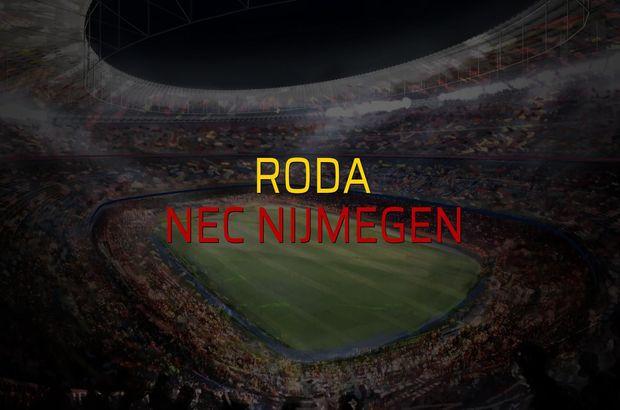 Roda - Nec Nijmegen maçı istatistikleri