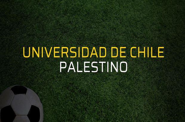 Universidad de Chile - Palestino karşılaşma önü