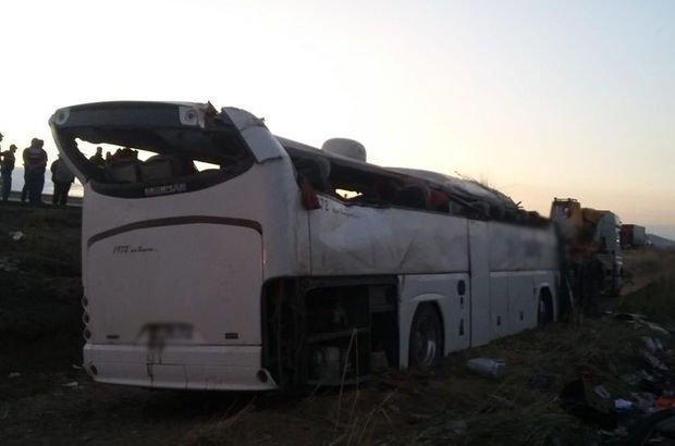 yolcu otobüsü kazası