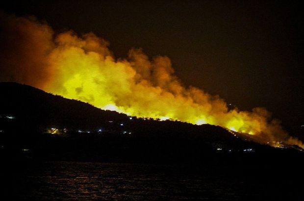 Sisam Adası yangın Yunanistan