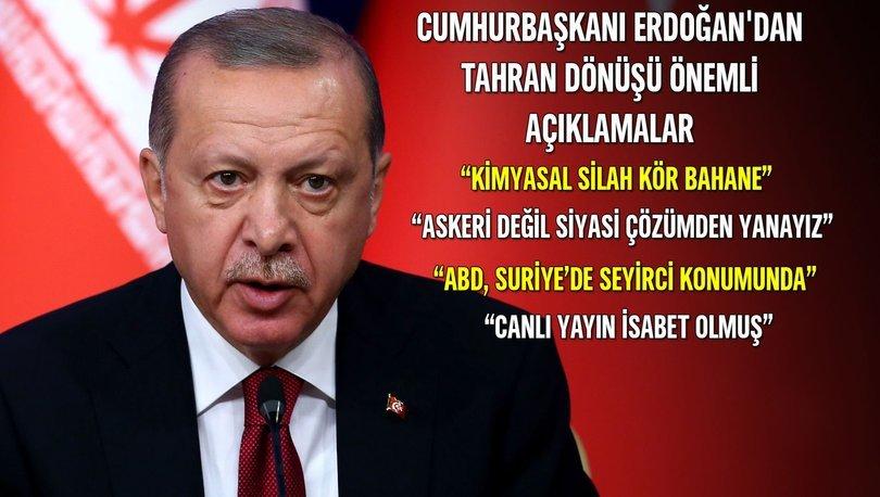 Recep Tayyip Erdoğan Tahran Zirve