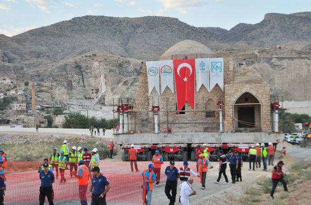 Hasankeyf'te 3'üncü tarihi eser taşınıyor