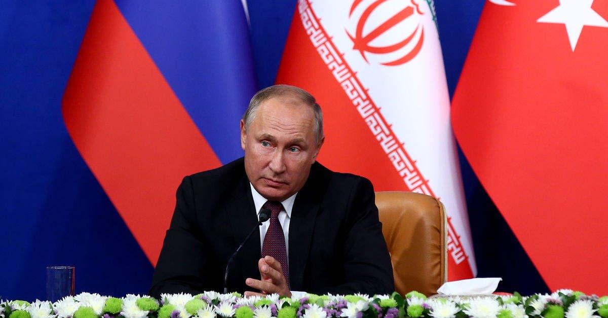 Tahran zirvesindeki canlı yayın Putine de sürpriz olmuş 9
