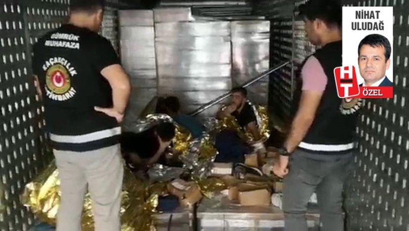 TIR dorsesinden alüminyum folyoya sarılı 6 kaçak göçmen çıktı