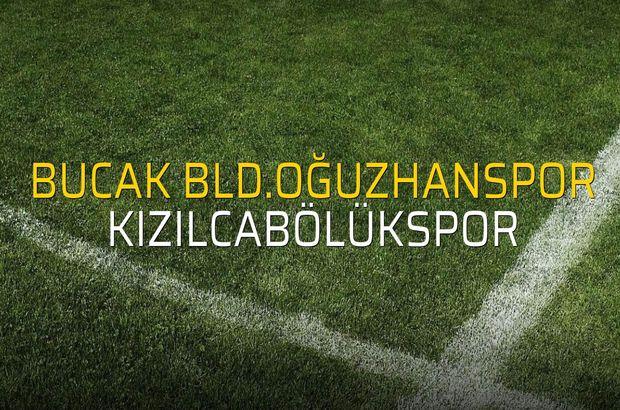 Bucak Bld.Oğuzhanspor - Kızılcabölükspor maçı öncesi rakamlar