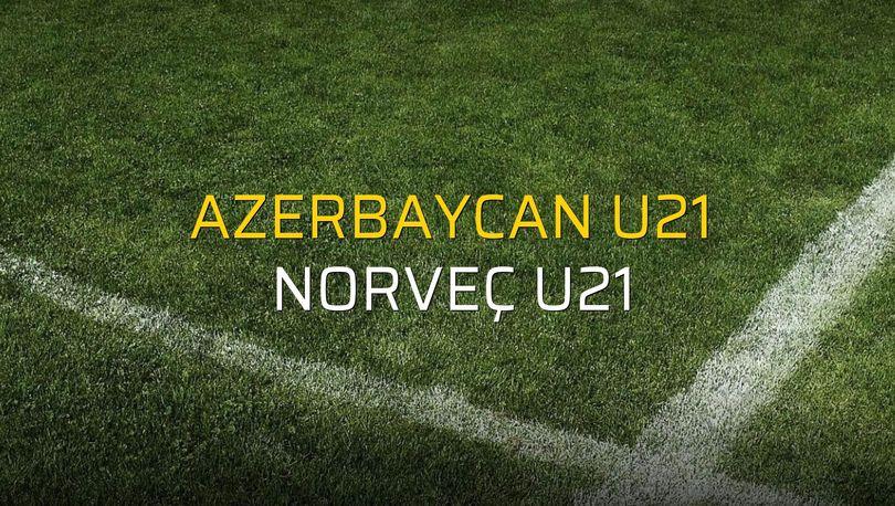 Azerbaycan U21 - Norveç U21 maçı istatistikleri